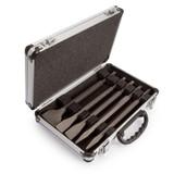 Makita D-16368 SDS-PLUS Chisel Set in Silver Aluminium Case (5 Piece) - 2