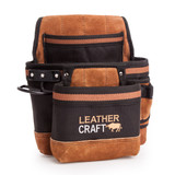 Leather Craft LC204 Single Pouch with 2 Large Pockets - 3
