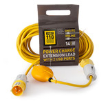 Just 110 JOT1002 Extension Lead 2.5mmï¾_ x 14m with USB Ports 16Amp 110V - 2