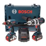 Bosch GSB18VE2Li + GDX18VEC 18V Cordless Package in L-Boxx (2 x 4Ah Batteries) - 6