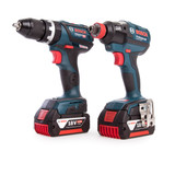Bosch 0615990J8B 18V Twin Pack - GSB 18V-60 C Combi Drill + GDX 18V-EC Impact Driver (2 x 5.0Ah Batteries) with L-Boxx - 7