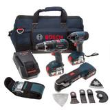 Bosch Dynamicseries 4-Kit with GSB18VLI, GDR18VLI, GOP18VEC, GLI VariLED (3 x 4.0Ah Batteries + Kitbag) - 5