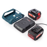 Bosch GBA184x2WSET Wireless Charging Starter Set with 2 x 4Ah Batteries, Charger and Docking Frame) - 3