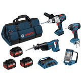 Buy Bosch BAG+4RSW Robustseries 18V 4 Piece Cordless Kit With Wireless Set at Toolstop