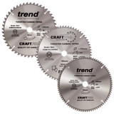 Buy Trend 305mm Sawblade Triple Pack 48T, 64T and 84T at Toolstop