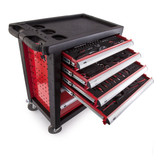 Toolstop RED1337 6 Drawer Tool Trolley in Red with 159 Piece Tool Kit - 5