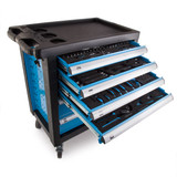 Toolstop BLUE1337 6 Drawer Tool Trolley in Blue with 159 Piece Tool Kit - 5