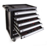 Toolstop 2616084 7 Drawer Tool Trolley in Black with 192 Piece Tool Kit - 6