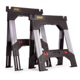 Stanley 1-92-980 Fatmax Aluminium Adjustable Telescopic Saw Horse Twin Pack - 4