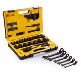Stanley 61 Piece Socket Set 1/2in Drive + 6 Piece Combi Wrench Set - 4