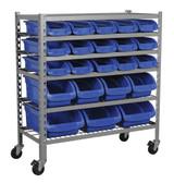 Buy Sealey TPS22 Mobile Bin Storage System 22 Bins at Toolstop