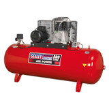 Buy Sealey SAC55075B Compressor 500ltr Belt Drive 7.5hp 3ph 2-Stage With Cast Cylinders at Toolstop