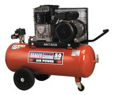 Buy Sealey SAC1503B Compressor 50ltr Belt Drive 3hp With Cast Cylinders & Wheels at Toolstop