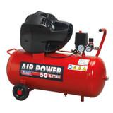 Buy Sealey SAC05030F Compressor 50ltr V-Twin Belt Drive 3Hp Oil Free at Toolstop