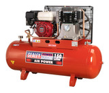 Buy Sealey SA1565 Compressor 150ltr Belt Drive Petrol Engine 6.5hp at Toolstop