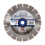 PDP DP16043 Diamond Blade P5-C12 5* General Purpose Building Material & Concrete 230mm x 22.2mm  - 2