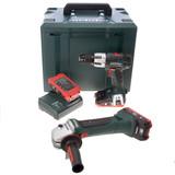 Metabo W18LTX Angle Grinder + SB18LT Combi Drill 18V Cordless Twinpack (3 x 3.1Ah LIHD Batteries) - 4