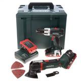 Metabo MT18LTX Multi-Tool + SB18LT Combi Drill 18V Cordless Twinpack (3 x 3.1Ah LIHD Batteries) - 4
