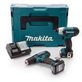 Makita CLX201AJ 18V CXT Twin Pack - DF331D Drill Driver + TD110D Impact Driver (2 x 2.0Ah Batteries) - 7