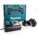 Makita 2 x BL1830B Batteries, DC18RC Fast Charger and Makpac Connector Case Type 2 - 3