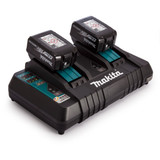 Makita DC18RD 18V Twin Charger + 2 x BL1840 4.0Ah Batteries - 1