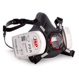 JSP BHT0A3-0L5-N00 Force 8 Half-Mask Fitted with Press to Check P3 Dust Filters - Medium - 2