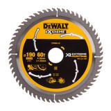 Dewalt DT99564 XR Extreme Runtime Circular Saw Blade 190mm x 30mm x 60T - 2