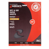 Abracs ABWD2000 Wet & Dry Paper 2000 Grit (Pack 25) - 1