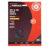 Abracs ABWD0800 Wet & Dry Paper 800 Grit (Pack 25) - 1
