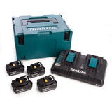Makita DC18RD Twin Charger + 4 x 4.0Ah Batteries in Kitbox - 2