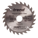 Trend CSB/16524 CraftPro Saw Blade Combination 165mm x 24T - 2