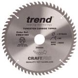 Trend CSB/21560 CraftPro Saw Blade Fine Trim 215mm x 60T - 2