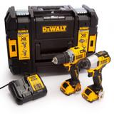 Dewalt DCK2110L2T 12V XR Sub Compact Twin Pack - DCD701 Drill Driver + DCF801 Impact Driver (2 x 3.0Ah Batteries) - 1