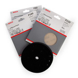 Bosch 06159975Y2 M480 3 Step Sanding Solution Pack 150mm (Pack Of 15 + Backing Pad) - 1