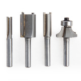 Makita P-24876 Straight / Round Router Set 1/4 Inch Shank (Pack of 4)