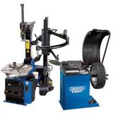 Draper 02152 Tyre Changer with Assist Arm & Wheel Balancer Kit