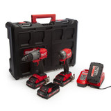 Milwaukee M18 FPP2A2-304P Combi Drill & Impact Driver Twin Pack