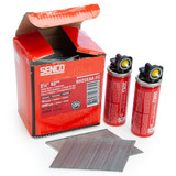 Senco RH25EAA-FC Galvanised Finish Nails 16 Gauge 63mm + 2 Fuelcells (2000 in Box)