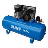 Draper 55304 Stationary Belt-Driven Air Compressor 150L 2.2kW