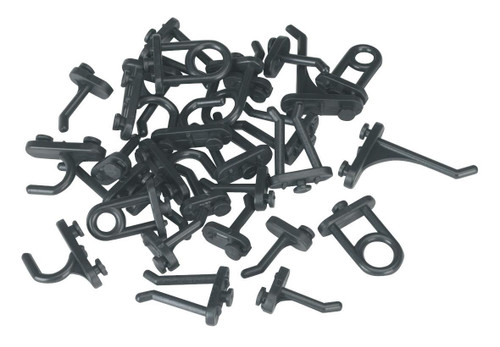 Buy Siegen S0766 Hook Assortment For Composite Pegboard (30 Piece) at Toolstop