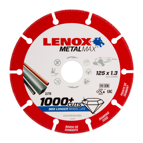 Lenox 2030866 MetalMax Diamond Cut Off Wheel 125mm x 1.3mm x 22.23mm - 2