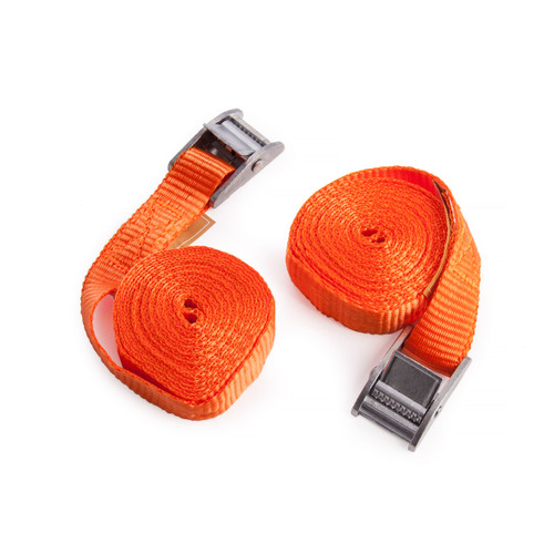 Buy BlueSpot 45404 2.5M Cam Buckle Tie Downs (Pack Of 2) at Toolstop