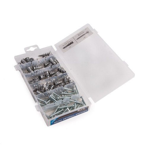 BlueSpot 40572 Assorted Metal Drywall Anchor & Screw Set (100 Piece) - 2
