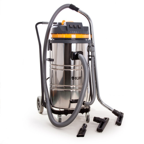 V-TUF VTS8000 Industrial Wet and Dry 80L Vacuum Cleaner with Accessories 240V - 3