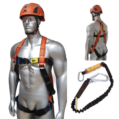 Aresta Scaffolder Kit 2 - Double Point Harness, Elasticated Webbing Lanyard - 1
