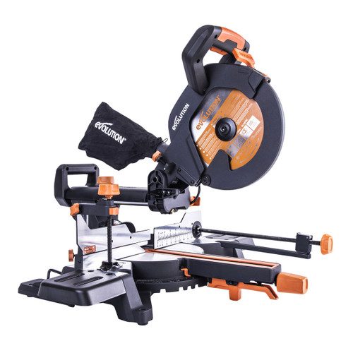 Evolution R255SMS+ TCT Multi-Material Sliding Mitre Saw 255mm / 10 Inch 240V - 12