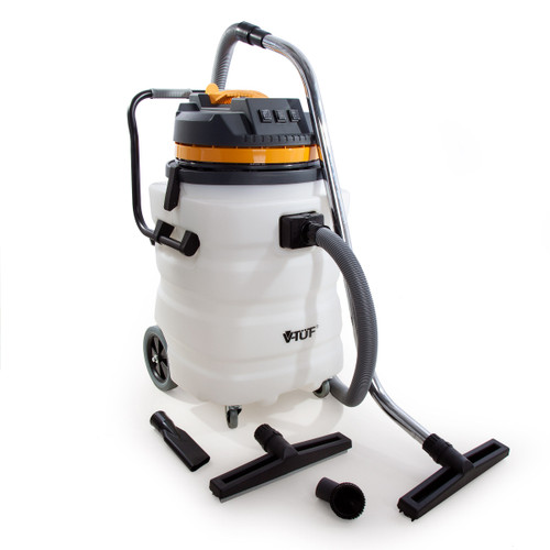 V-TUF VT9000 Industrial Wet and Dry 90L Vacuum Cleaner with Accessories 240V - 3
