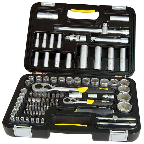 Buy Stanley 1-94-668 Socket Set 1/4 & 1/2in Square Drive (96 Piece) at Toolstop