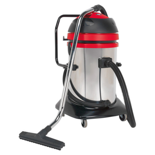 Buy Sealey PC85 Vacuum Cleaner Industrial Wet & Dry Twin Motor 75ltr Stainless Drum 1200/2400w at Toolstop