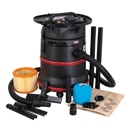 Buy Sealey PC35230V Wet & Dry Vacuum 35ltr 1200W M Class 240V at Toolstop